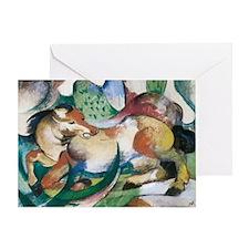 Franz Marc Springendes Pferd Greeting Card