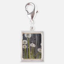 Dandelion Silver Portrait Charm