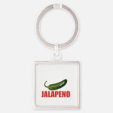 Jalapeno Business Square Keychain