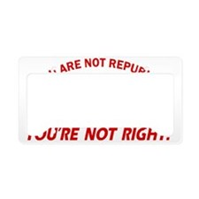 Republican Party Designs License Plate Holder