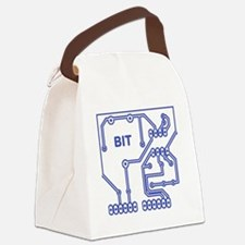 bit circuit blue cyberpunk Canvas Lunch Bag