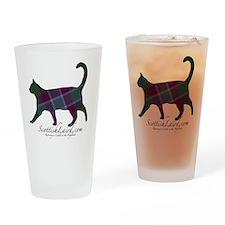 The Dunans Tartan Cat Drinking Glass