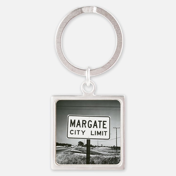 Margate City Limits Street Sign Square Keychain