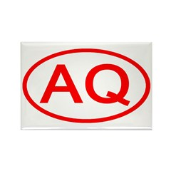 AQ Oval (Red) Rectangle Magnet