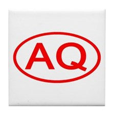 AQ Oval (Red) Tile Coaster