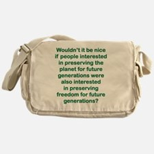WOULDNT IT BE NICE IF PEOPLE INTERES Messenger Bag