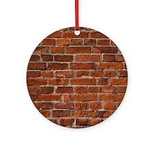 Brick Wall Round Ornament