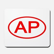 AP Oval (Red) Mousepad