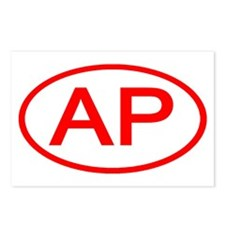 AP Oval (Red) Postcards (Package of 8)