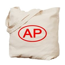 AP Oval (Red) Tote Bag