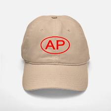 AP Oval (Red) Baseball Baseball Cap