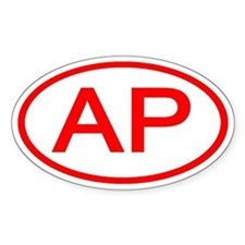 AP Oval (Red) Oval Decal