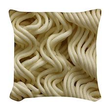 Ramen Noodle Woven Throw Pillow