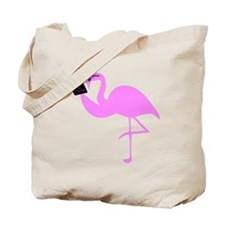 Reading Flamingo Tote Bag