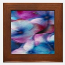 Hydrangea in the wind Framed Tile