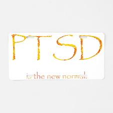 PTSD Normal Aluminum License Plate