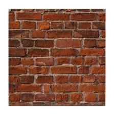 Red Brick Wall Tile Coaster