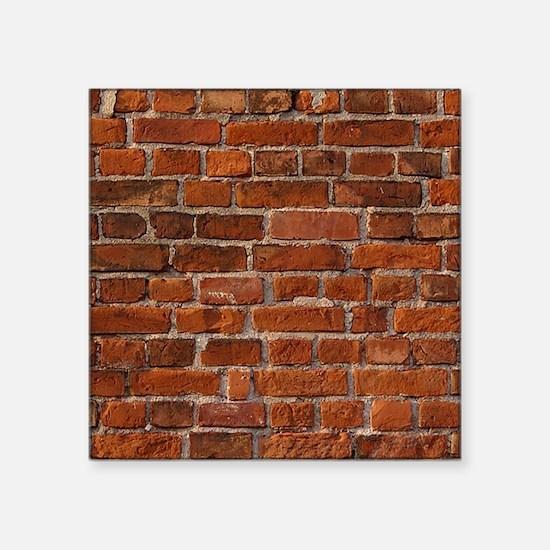 "Red Brick Wall Square Sticker 3"" x 3"""