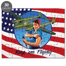 Rosie the Riveter  the P-38 Lightning Puzzle