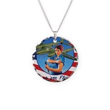 Rosie the Riveter  the P-38  Necklace