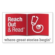 Reach Out and Read with Gray T Decal