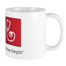 Reach Out and Read with Gray Tagline Mug