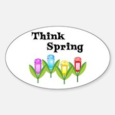 Think Spring GPS Oval Decal