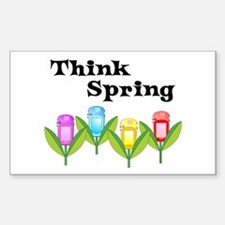 Think Spring GPS Rectangle Decal