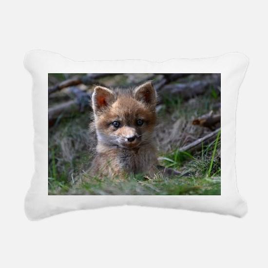 baby fox Rectangular Canvas Pillow