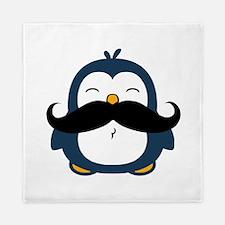 Mustache Penguin Trend Queen Duvet
