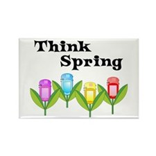 Think Spring GPS Rectangle Magnet
