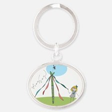 May Day Oval Keychain