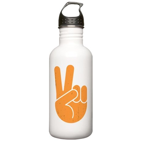 univ-peace-hand2-orng- Stainless Water Bottle 1.0L