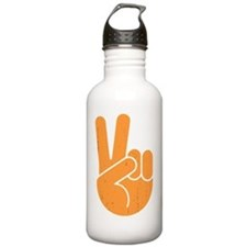 univ-peace-hand2-orng- Water Bottle