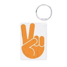 univ-peace-hand2-orng-DKT Keychains
