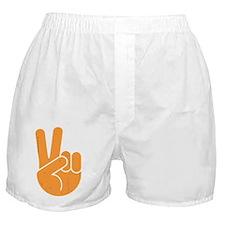 univ-peace-hand2-orng-DKT Boxer Shorts