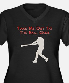 Take me out to the Ball Game Women's Plus Size V-N
