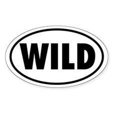 WILD Oval Decal
