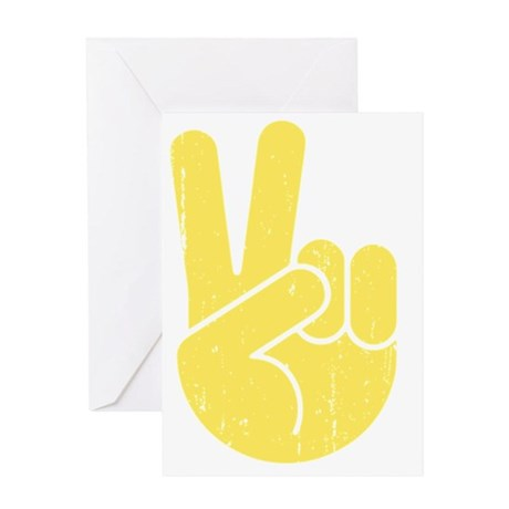 univ-peace-hand2-LTT Greeting Card