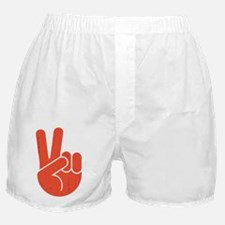 univ-peace-hand2-red-DKT Boxer Shorts