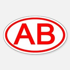 AB Oval (Red) Oval Decal