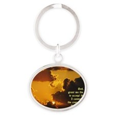 Serenity Prayer Oval Keychain