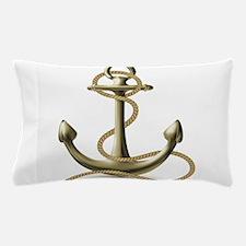 Gold Anchor Pillow Case