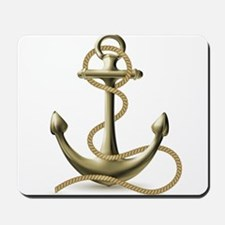 Gold Anchor Mousepad