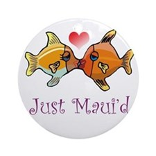 Just Maui'd Tropical Fish Log Ornament (Round)