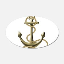 Gold Anchor Wall Decal