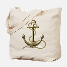 Gold Anchor Tote Bag
