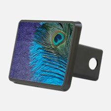 Purple and Teal Peacock Hitch Cover