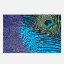 Purple and Teal Peacock Postcards (Package of 8)
