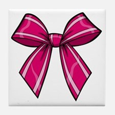 Bow Pink Tile Coaster